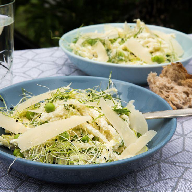 Grøn sommerpastasalat