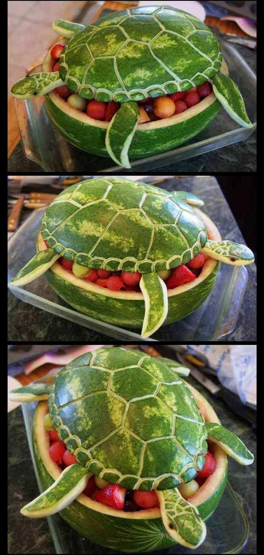 Pastèque tortue de mer | Idées de bricolage Seashore Get together pour votre célébrati…