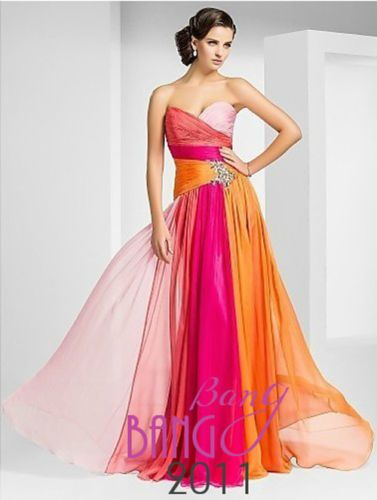Multicoloured-Bridesmaid-Dresses-Formal-Party-Evening-Prom-Dresses-Size-6-16