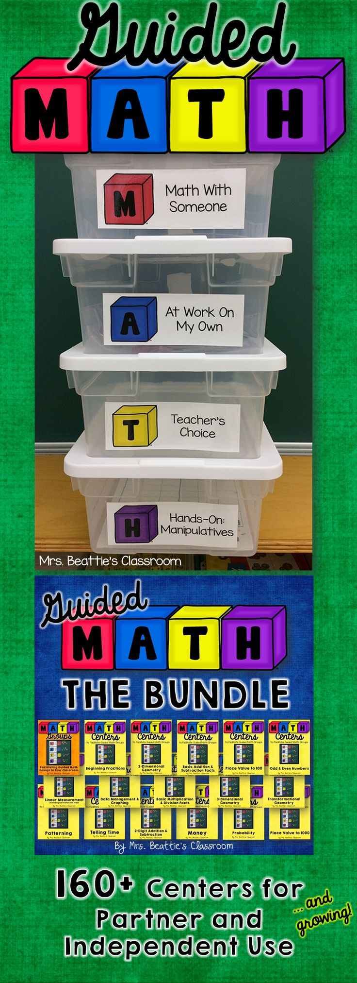Using a Guided Math or Daily 5 Math approach in your classroom? Grab all current AND future Guided Math resources from Mrs. Beattie's Classroom in one money-saving bundle!! Click to check out the great reviews!