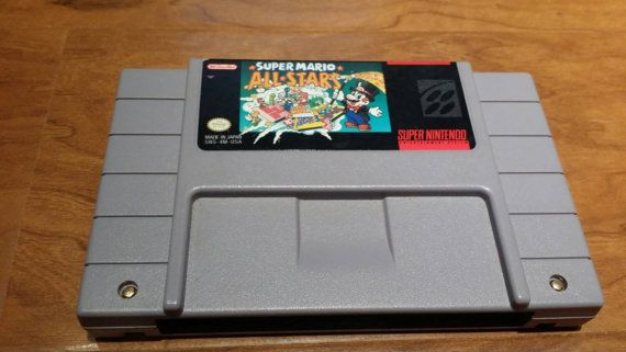 (We totally had this game! My sister and I played it a LOT. Though our favorite was Mario Kart. *lol*) Super Mario All stars super Nintendo snes video by RetroGameZone
