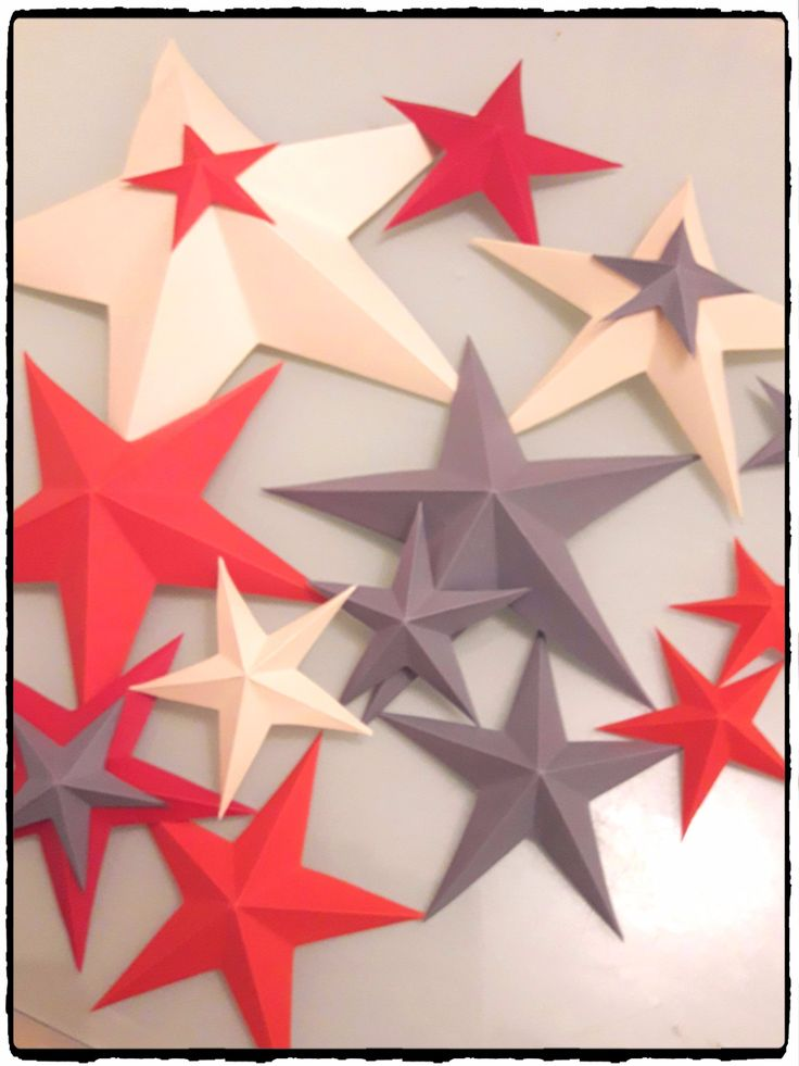 tuto étoile de noel en 3d, étoile en origami, décoration de noel, diy étoiel en papier