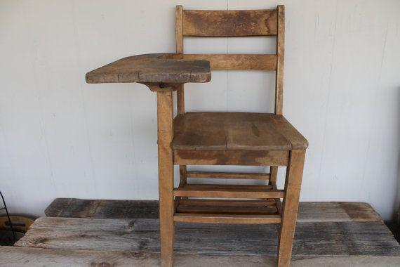 Vintage Wooden School Desk On Etsy Office Ideas
