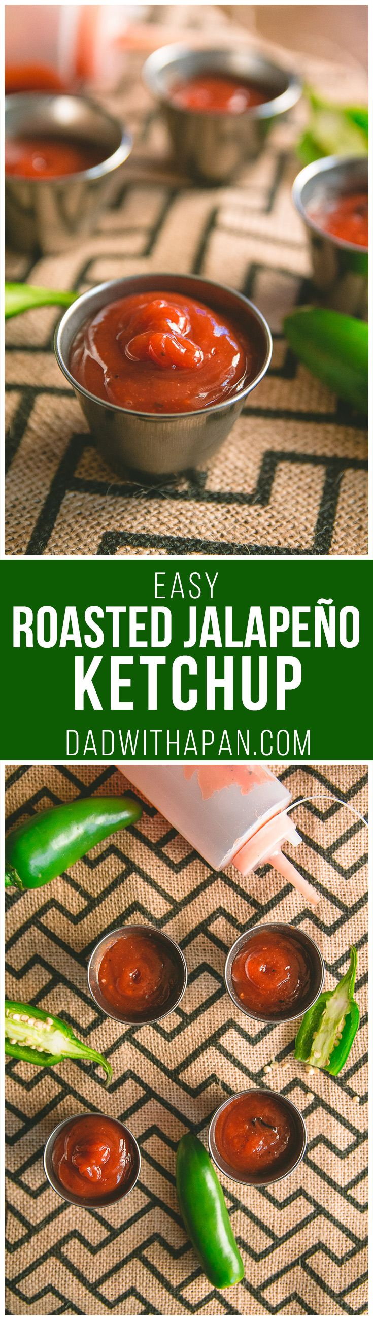 Easy Roasted Jalapeno Ketchup #Spicy #Jalapeno #Ketchup