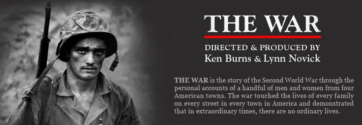 Ken Burns The War is a must see. Heart wrenching, inspiring, and extremely insightful. I bless the names of all those people who sacrificed for not only my but the worlds freedom.