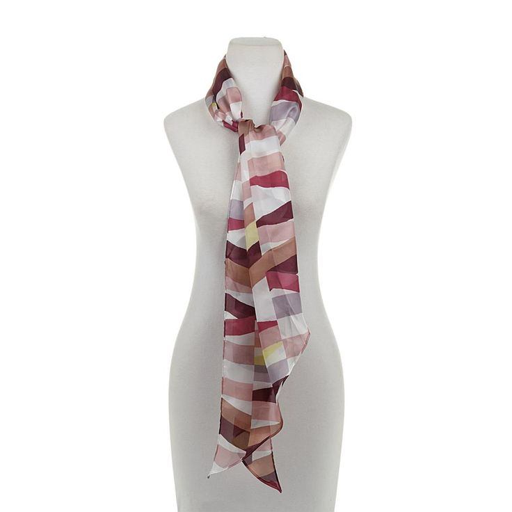 Vince Camuto Colorblocked Chiffon Scarf - Pink