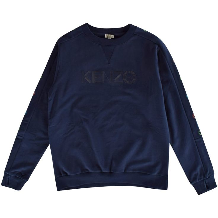 KENZO JUNIOR Kenzo Kids Navy Jungle Print Crew Neck Sweatshirt - Junior  from…
