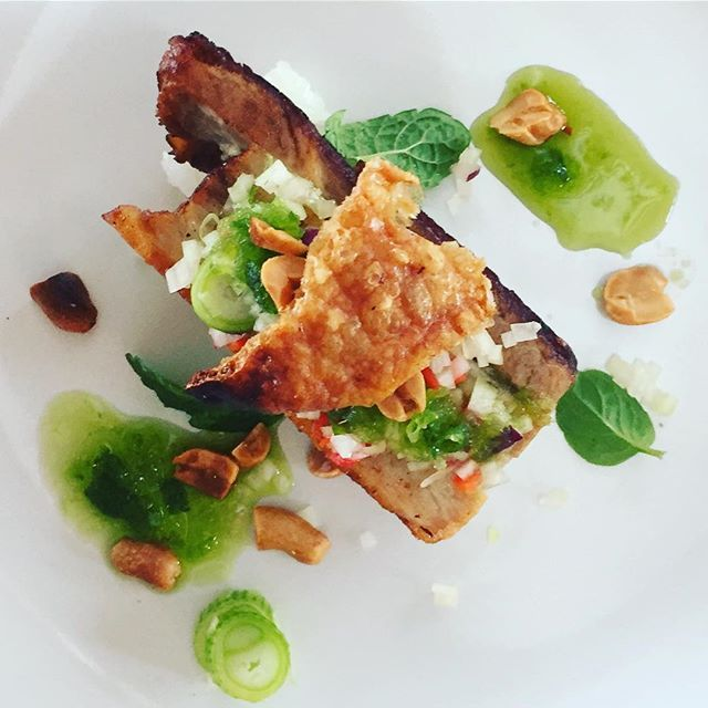 Crispy Thai Pork Belly by @forageandgraze #byronbay #thai #byronbayfood