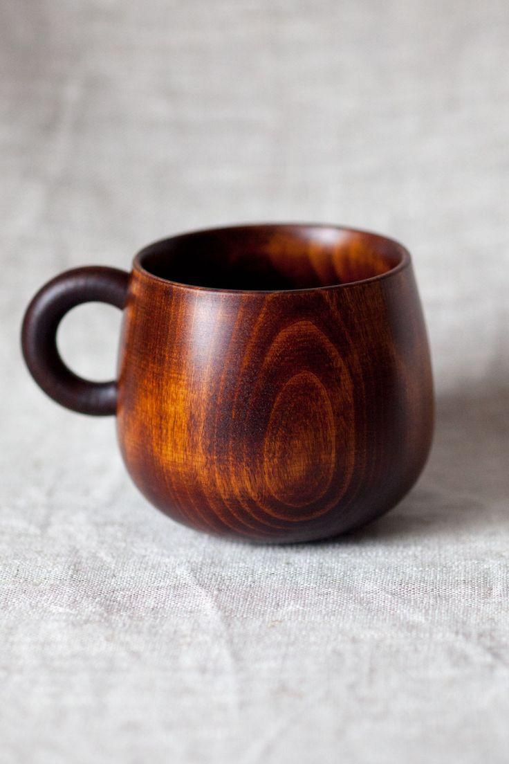 Chene Doux Wooden Mug. I am slowly accumulating an odd collection of mugs that in no way match. I want this one, too.