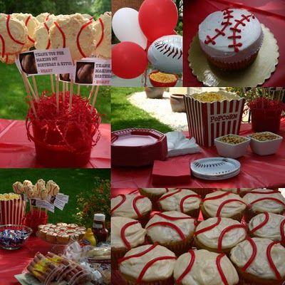 easy baseball desserts: Baseball Birthday Party, Party'S, Baseball Theme, Birthday Parties, Birthdays, Baseball Party, Boy, Party Ideas, Birthday Ideas