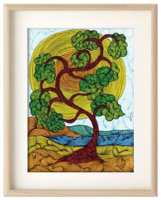 Tree, Gorgeous wall art, Tree home decor, art print, tree poster, Professional Digital print, tree wall art, tree illustration, ArtChromata by ArtChromata on Etsy