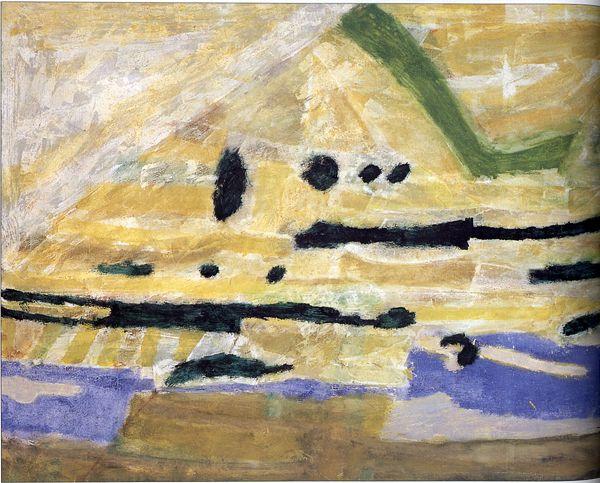 """Piotr Potworowski, 1961, """"Vistula in Kazimierz"""""""