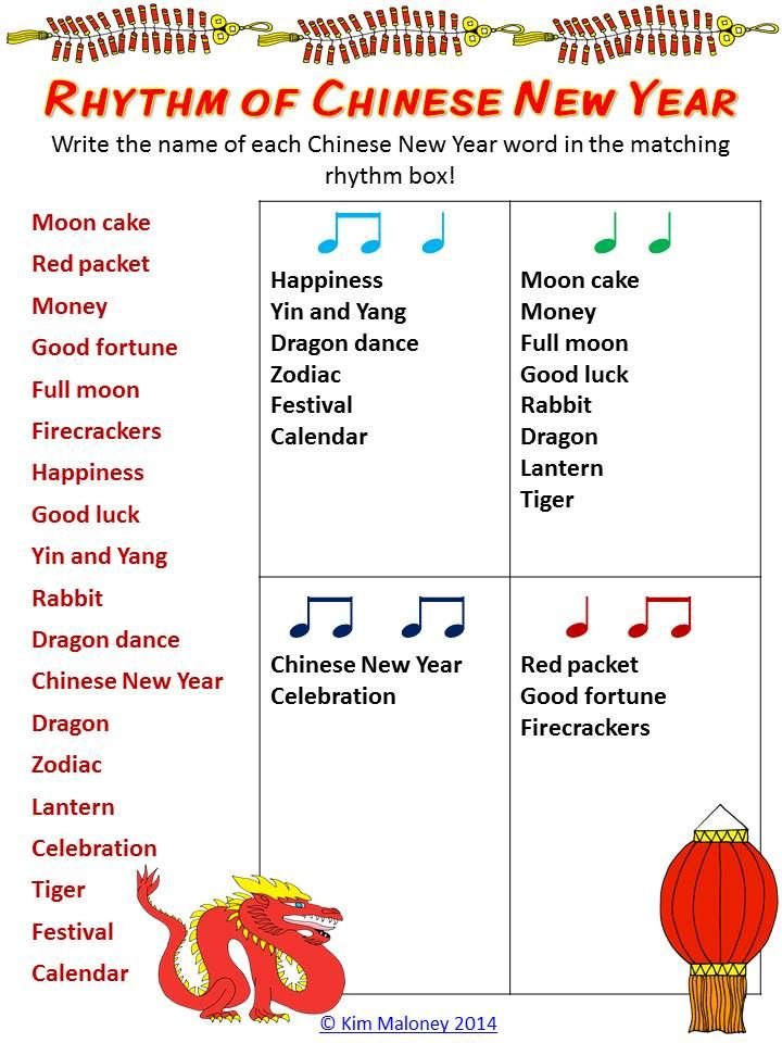 Chinese new year music lesson ks1
