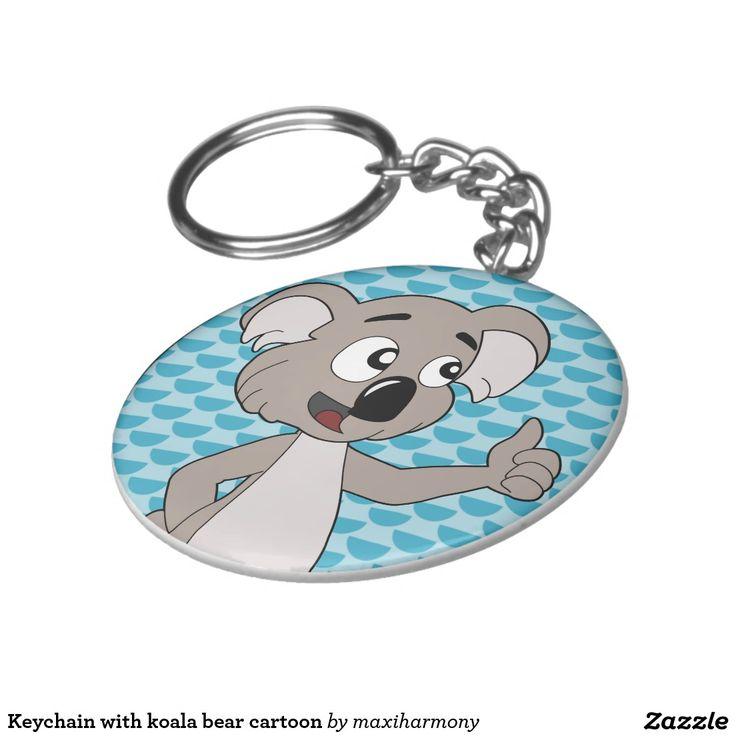 Keychain with koala bear cartoon
