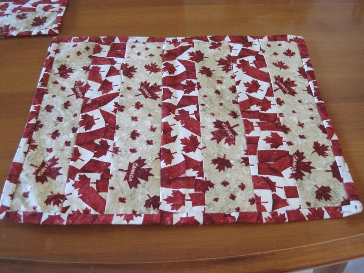Placemat, Canada Day, Quilted placemat, Canada Day Placemat, Red and white placemat, Fabric placemat, Canada, Canadian Flag by FootlessDesigns on Etsy