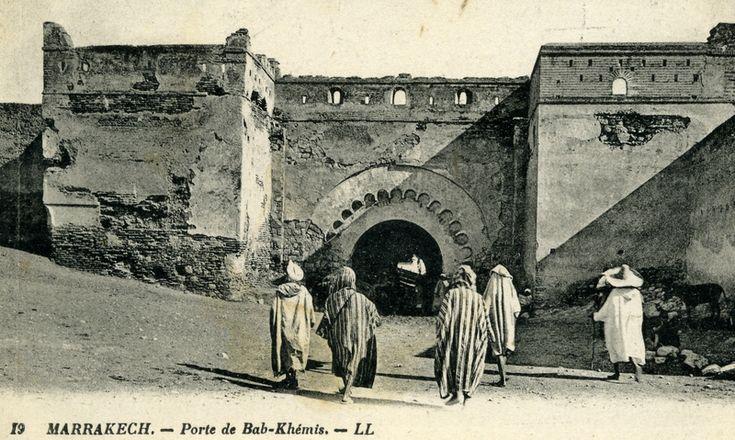 19LL-26-MARRAKECH-porte de Bab-Khémis-le courrier au dos de cette carte date du 02-09-1926