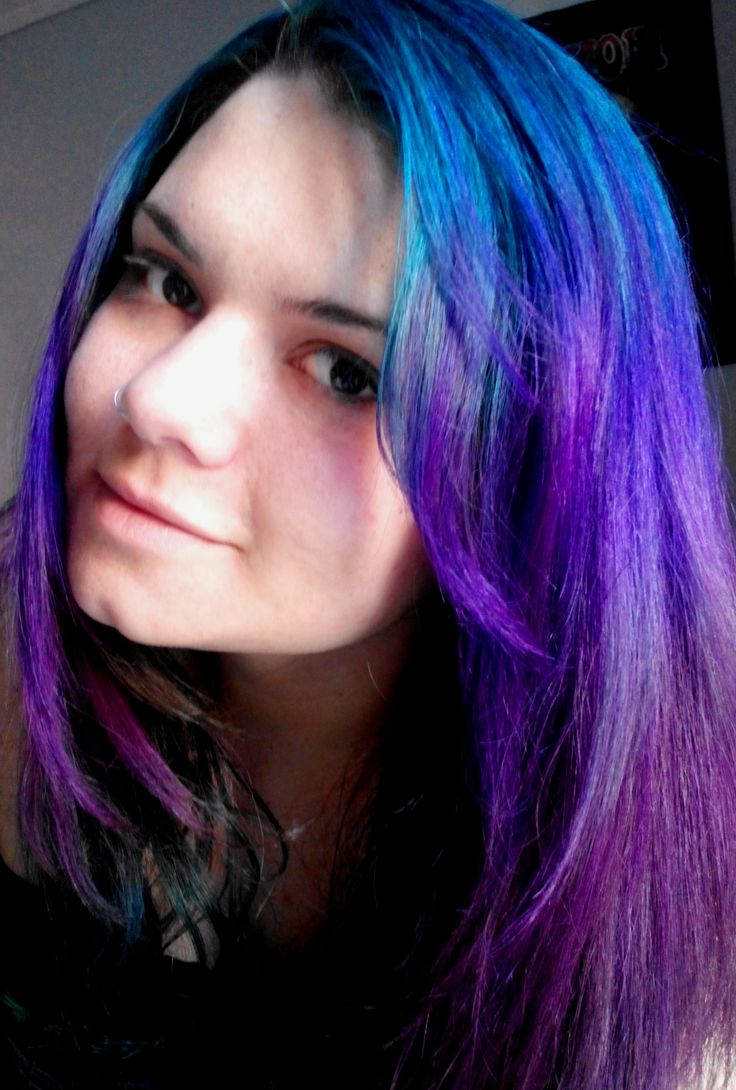 Caisa Stormy Pravana Violet And Silver Ombre Hair Colour
