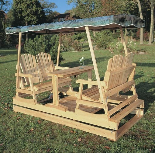 Free double glider swing plans woodworking projects plans for Log swing plans