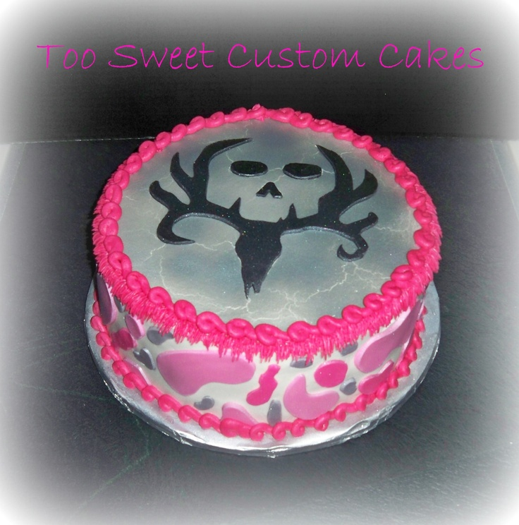 Pink camo & deer hunting- I want this cake! I love it ...
