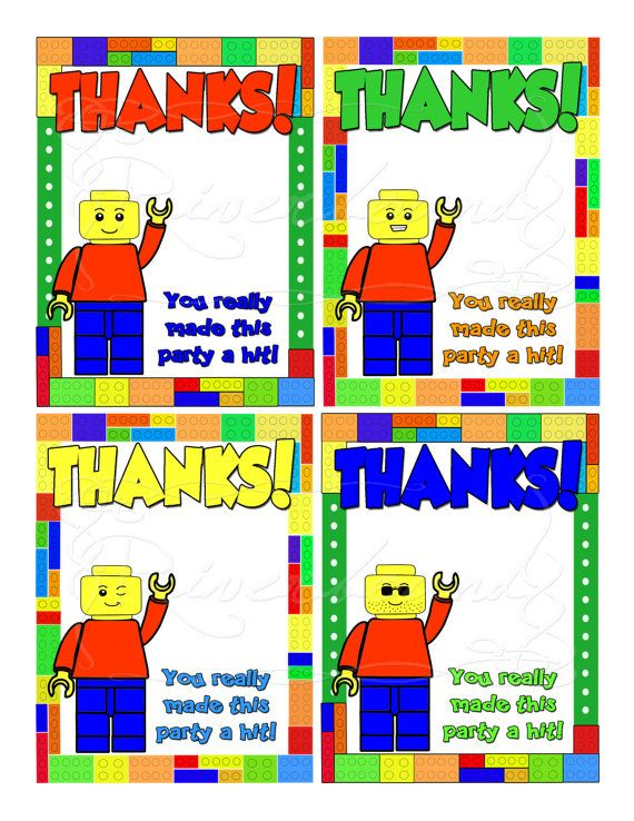 56 best Lego party images – Printable Lego Birthday Cards