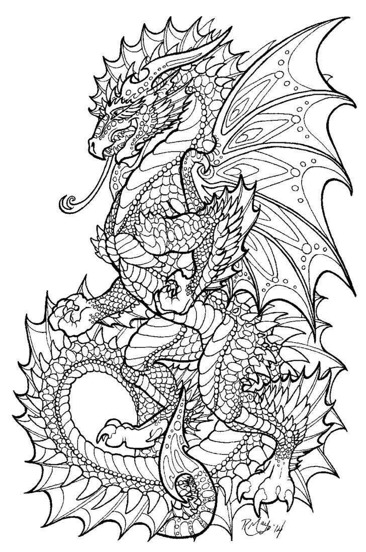 52 Best Color Pages Dragons Images On Pinterest