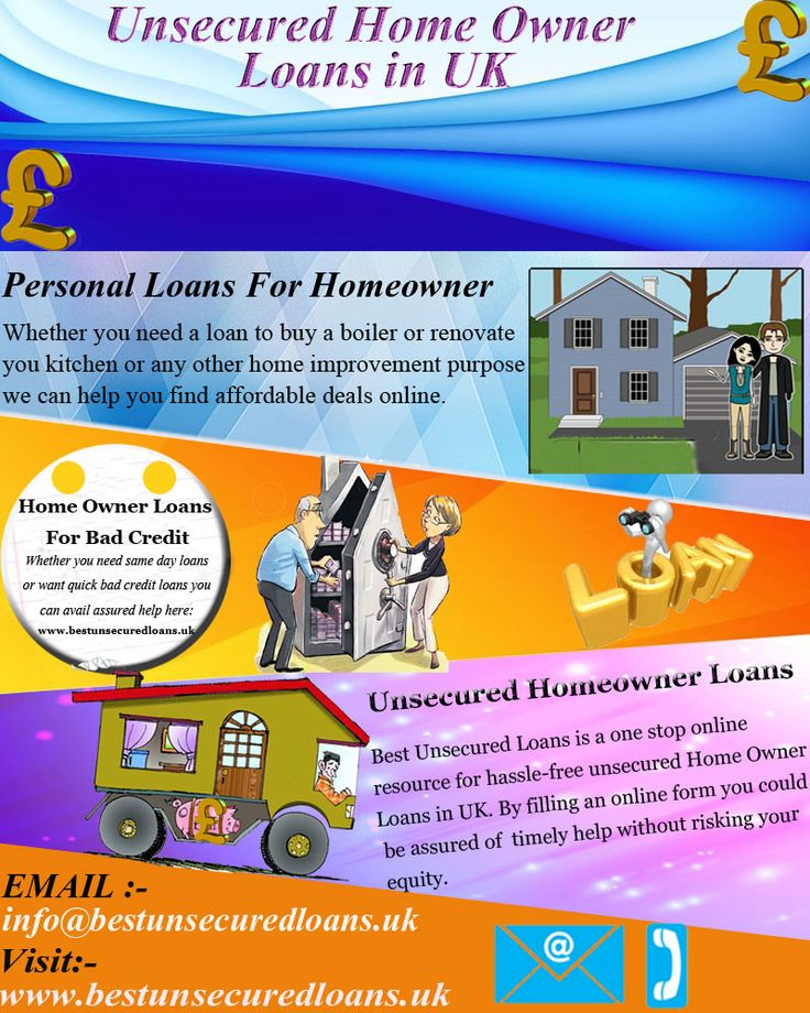 If you have failed to find a bad credit loan in the UK, contact Best Unsecured Loans for assured loan help on homeowner loans. You are not bound to apply for secured homeowner loan as we can search affordable loans for home improvement, loans for kitchen remodeling or faucet repair.