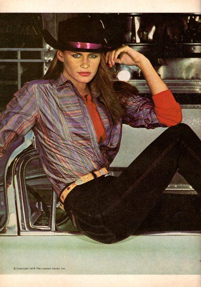 1978 The Limited Juli Foster Cowboy Boots Hat  Retro Print Ad Vintage VTG 70s | eBay