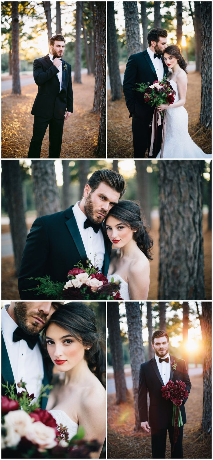 Winter wedding inspiration, marsala, pantone color of the year