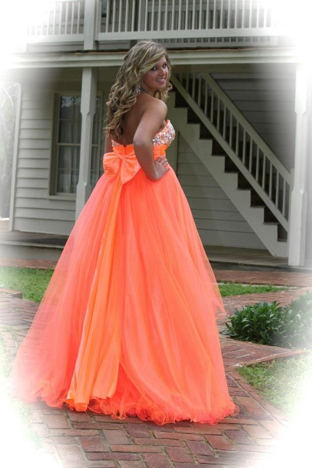 Blue Prom Dress with Bow On the Back