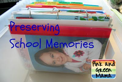 Preserving School Memories: Green Mama, Organizations Kids, Preserves Schools, Schools Memories, Schools Paper, Organizations Schools, Memories Organizations, Art Supplies, Kids Toys