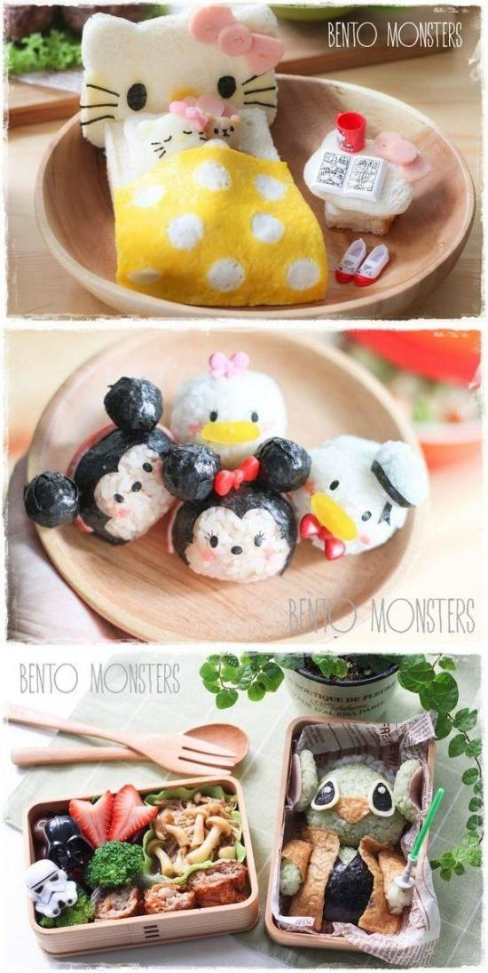 Singapore mom (Bento Monsters) #DIY #creative lunch for her two sons.