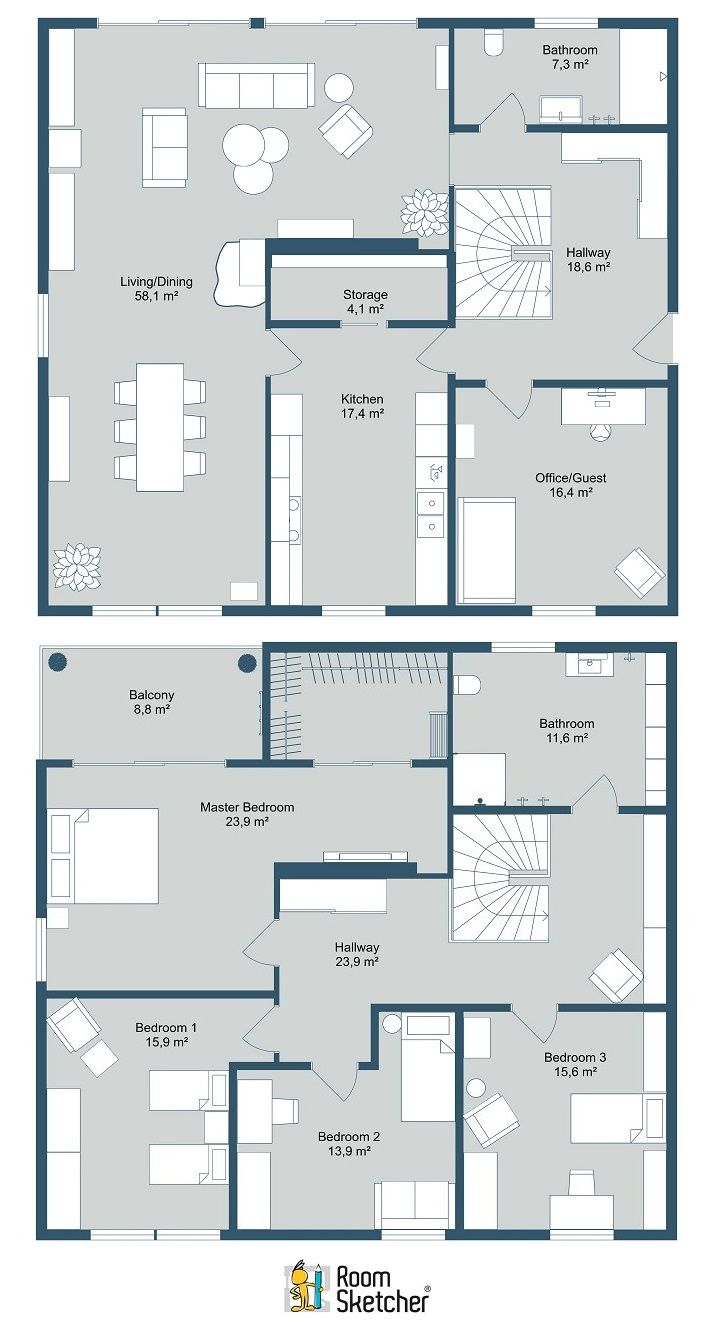Roomsketcher Balcony Real Estate Floor Plans In 2019 Home Building With