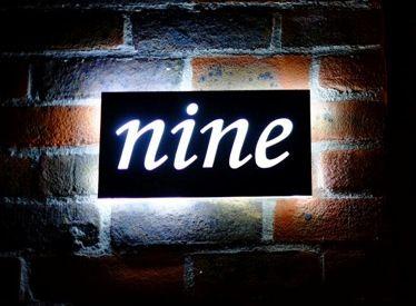 Illuminated House Number Plaque