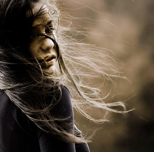 Girl With Flowing Hair