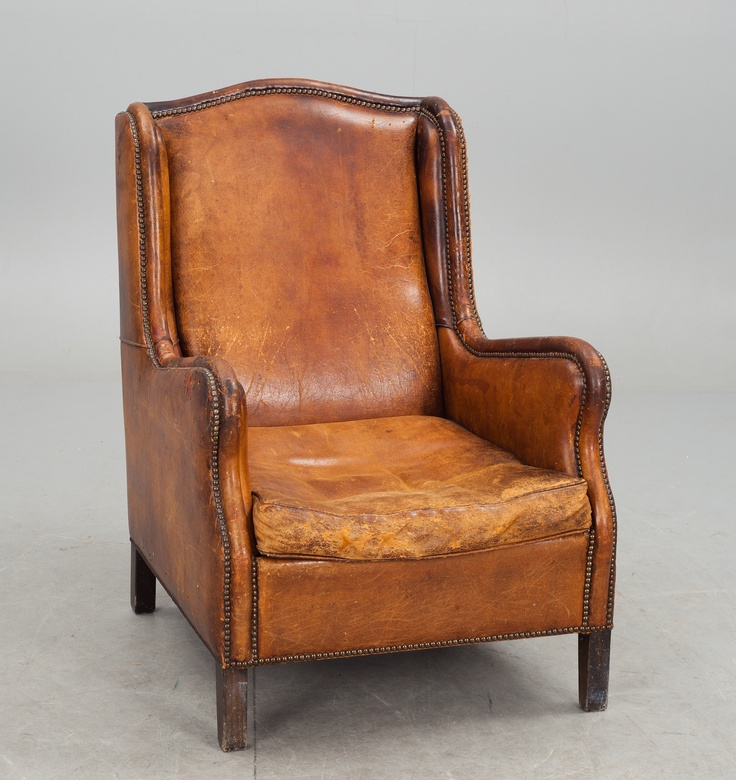 leather armchair early 1900s