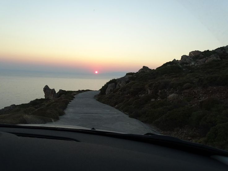 #Sunset on the road! #patmos