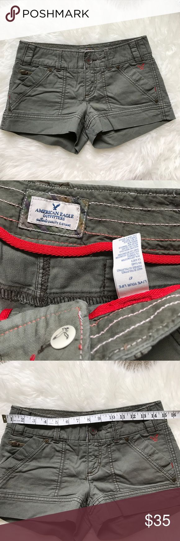 American Eagle Short Size Size 0 Excellent Condition 😍 No trade 🚫 No model 💃🏻 American Eagle Outfitters Shorts