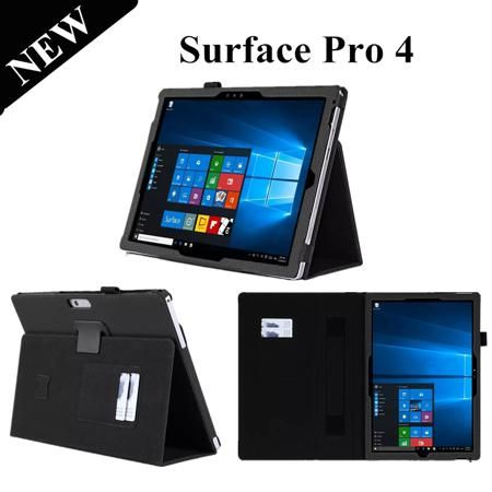 Surface Pro 4 Stand Leather Case For Microsoft Windows surface pro 4 12.3'' Tablet Case with card slot and hand holer  — 1123.14 руб. —