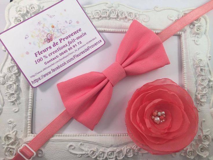 SET Bracelet fleur pour demoiselle d'honneur et Noeud Papillon pour groomsmen : Cravates par fleurs-de-provence