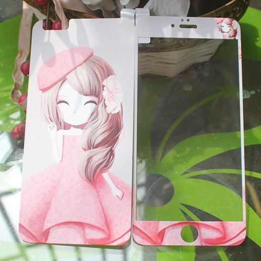 Tempered Glass Film Screen Protector Plus IphoneCartoon Toughened Glass Film Apple Mobile Phone 3d Embossed Knitted Matte Explosion Proof Mobile Phone Screen Protective Screen Protector Film