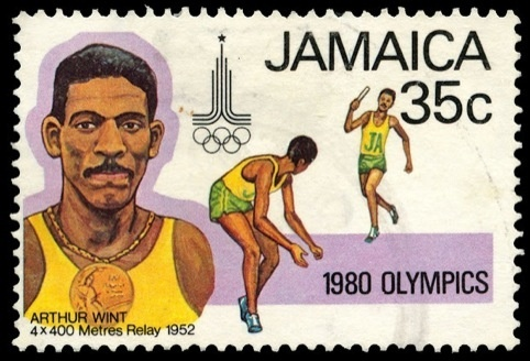 Post-colonial Jamaican stamp.