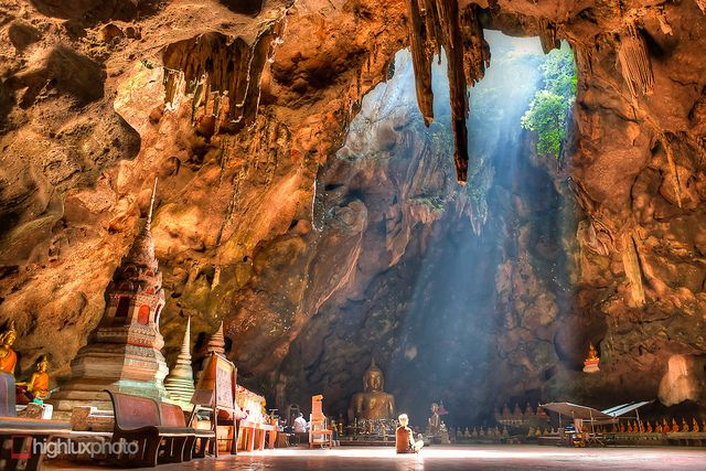 Khao Luang Cave - Petchaburi, Thailand by highlux, via Flickr