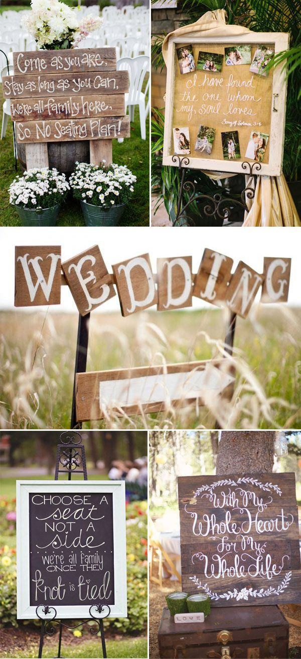 rustic wooden signs for wedding quotes ideas with scrip fonts