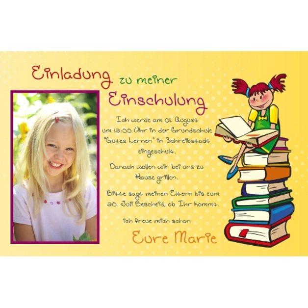 Einschulung Einladung Danksagung Schule, Fotokarte