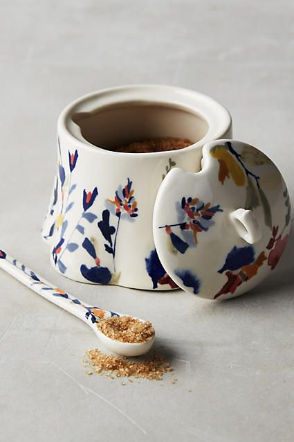 Wildflower Study Sugar Bowl - anthropologie.com