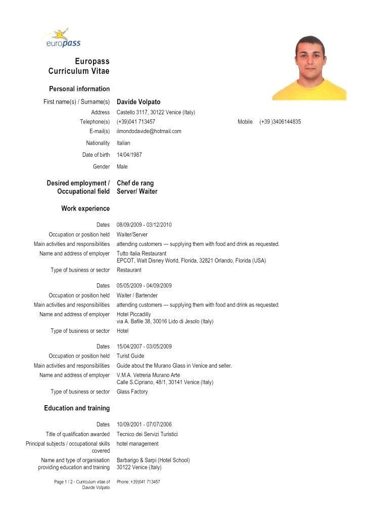 resume templates europeans