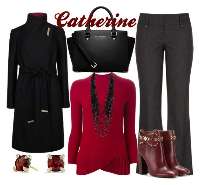 """Catherine."" by ella1122ghost on Polyvore featuring MICHAEL Michael Kors, Emporio Armani, Ted Baker, David Yurman, Tory Burch, women's clothing, women's fashion, women, female and woman"