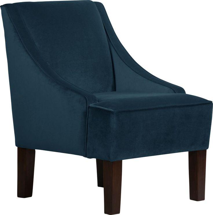 Best Delana Navy Chair Blue Accent Chairs Furniture Wicker 640 x 480
