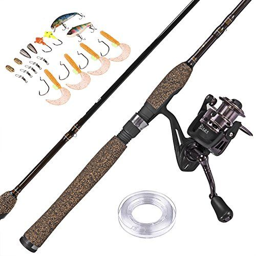 "PLUSINNO Fishing Rod and Reel Combos FULL KIT Graphite Blanks Rod Pole (2 Piece) with Reel Line Lures Hooks and Accessories Fishing Gear Organizer 7'0"" Medium  http://fishingrodsreelsandgear.com/product/plusinno-fishing-rod-and-reel-combos-full-kit-graphite-blanks-rod-pole-2-piece-with-reel-line-lures-hooks-and-accessories-fishing-gear-organizer-70-medium/?attribute_pa_color=full702  Fathers Day Gift, Gift for Daddy Papa. Warm Prompt: we provide 2 kinds combo and just cho"