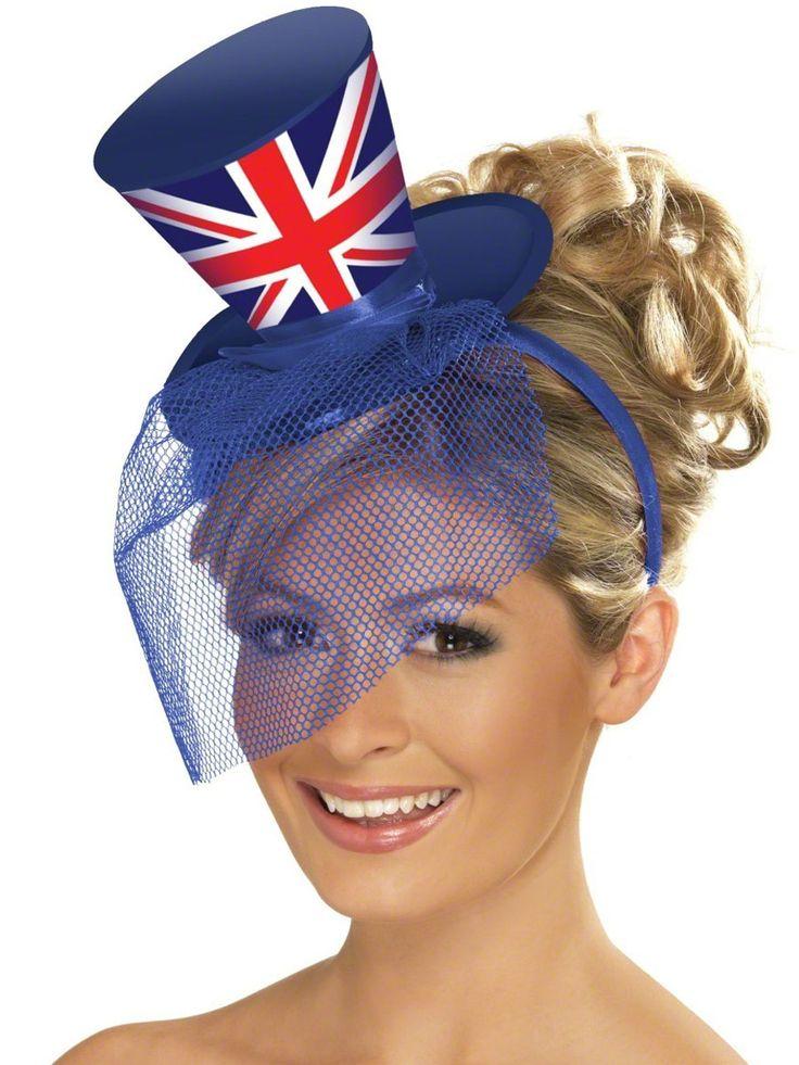 Fever Union Jack Mini Top Hat (27813) £6.50 #fancydress #diamond #jubilee